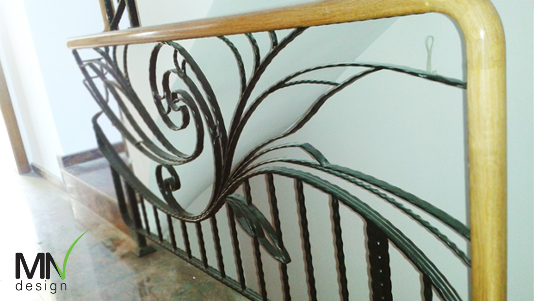 парапет ограда дърво желязо
